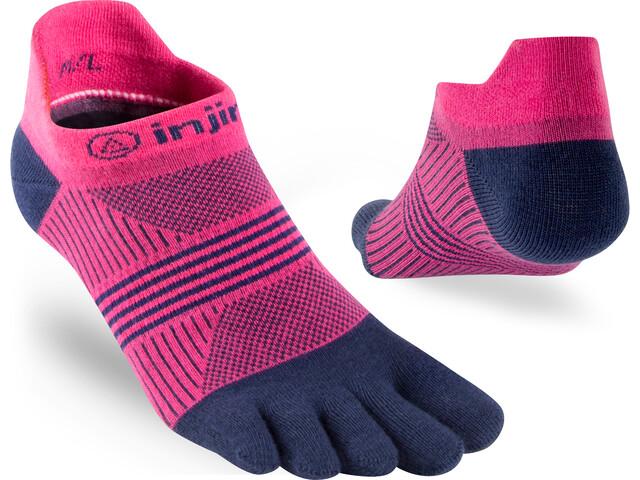 Injinji Run Coolmax Xtra Lightweight Sneakersocken Damen pink navy